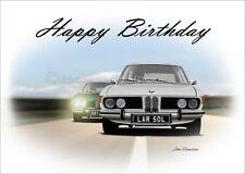 BMW E3 2500 3.0S 3.3 LiA  Birthday Classic Car Son Dad Greetings Card