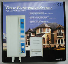 Door Entryphone System With Door Release Button - Speaker & Bell Push Unit