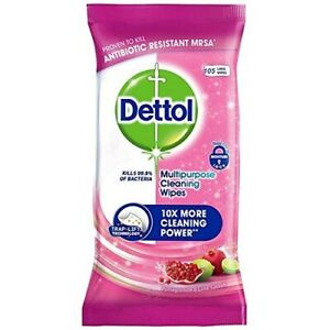 Dettol Pomegranate & Lime Splash Multipurpose Large Cleaning Wipes 105
