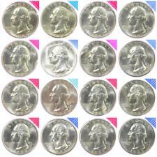 1980-1981 1984-1989 P D Washington Quarters Mint Cello Set BU Run 16 US Coin Lot