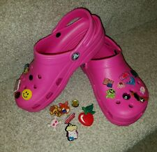 CROCS Kids Girls hot Pink with lot Jibbitz