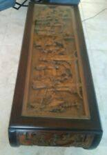 Oriental Carved Wood Coffee Table W/ 2 End Tables By Far Eastern Furnishings Co.