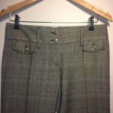 Dolce & Gabbana Women Ladies Tweed Harringbone Vintage Trouser Pants Virgin Wool