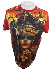 AKADemiksM Mens T Shirt sz L snake woman Medusa sublimation cotton polyester
