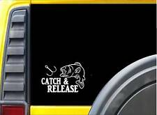 Catch and Release Sticker k105 6 inch fishing bait decal