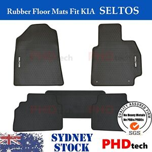 Premium Quality All Weather Rubber Car Floor Mats to fit KIA SELTOS 5 pieces