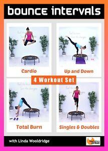 MINI TRAMPOLINE DVD - Barlates Body Blitz BOUNCE INTERVALS SERIES - 4 Workouts