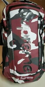 New Supreme Backpack SS21 Red Camo Backpack
