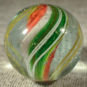 """BB Marbles: Solid Core Swirl. 7/8"""". Mint (B526)"""