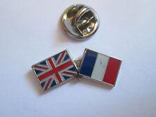 France & Uk Friendship Enamel Metal Lapel Pin  -24 x 8mm   -  L085