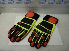Lot Of 2 X Pairs Ringers R24 Medium Roughneck Hi Vis Glove New