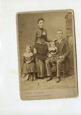 CABINET CARD,Vintage Photo, Lowe Family of 4, Youngstown, OH