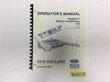 New Holland 472 Haybine Mower Conditioner 9 88 Operators Maunal