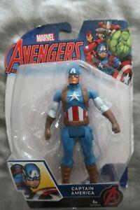 "Marvel wave Captain America 6"" Action Figure (Hasbro) 15cm, classic legends rare"
