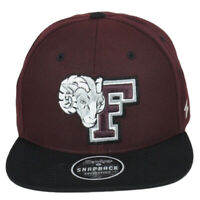 NCAA Zephyr Fordham University Rams Flat Bill Snapback Adjustable Hat Cap