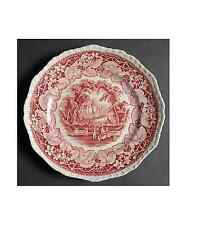 "Vintage mason's red vista 9"" assiettes à salade ironstone made in england"