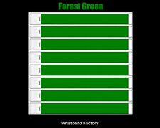 100x Tyvek Forest Green Party Function Evnt Wristbands