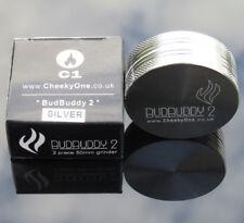 BudBuddy2 by Cheekyone Smokers Club 50mm 2 Part Metal Herb Grinder Magnetic Lid