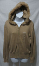 New NWT Liz Claiborne Womens Size XL Hoodie Sweater Rabbit Hair Zipper Front