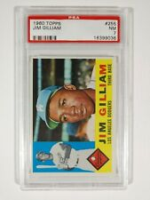 1960 Topps Baseball #255 Jim Gilliam Los Angeles Dodgers PSA 7 NM