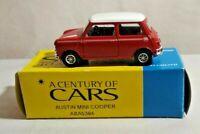 CORGI SOLIDO A CENTURY OF CARS 1:43 SCALE AUSTIN MINI COOPER - RED - ABA5384