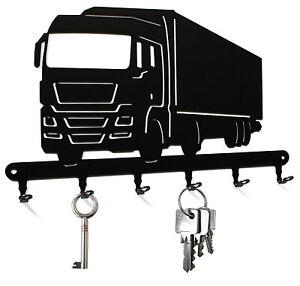 Schlüsselbrett / Hakenleiste Truck - Schlüsselboard LKW, Metall Haken schwarz