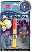 NEW Melissa & Doug On The Go Secret Decoder SPY MYSTERY Travel Game Book