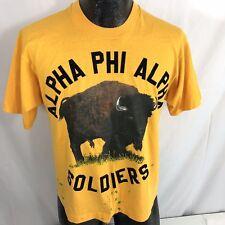 Vtg 80's Screen Stars Velvet Alpha Phi Alpha Fraternity Buffalo Soldiers T-Shirt