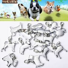 Charm Disk Anti-Lost Metal Pendant Pet ID Necklace Enamel Collar Dog Tags