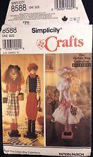 "Simplicity Dolls The Cotton Way Collection 22"" Dowel 3 Patterns Uncut FF 8588"
