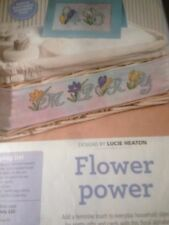 flower alphabet cross stitch charts x 26 letters by Lucie Heaton