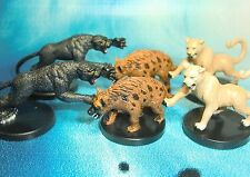 Dungeons & Dragons Miniatures Lot  Hunting Hyena Cougar Panther !!  s116
