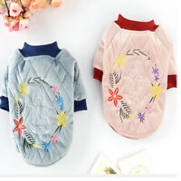 Pet Clothes Winter Dog Embroidered Sweater Puppy Cat Warm Coat Jacket Costume