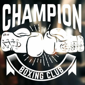 Boxing Wall Sticker gym club Gloves decal fitness sports graphics art bo15