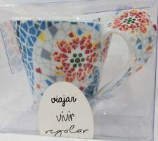 Mid-Century Modern MOSAIC ART Mug 10oz Twisted Handle Sevilla Spain Suvenior