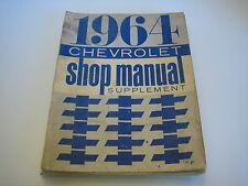 1964 Chevrolet Shop Manual Supplement Vintage Automotive Literature Auto Car
