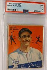1934 Goudey Luke Appling 27 PSA 3