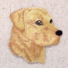 Yellow Lab Head Puppy/Dog Labrador Retriever Iron on Applique/Embroidered Patch