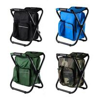 Outdoor Folding Camping Fishing Chair Stool Portable Backpack Seat Bag New