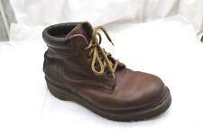 Dr. Doc Martens brown ankle boots Mens shoes sz UK10 11D 8284 Made in England