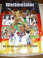 WELTMEISTER 1954, 1974, 1990, 2014 BUCH CHRONOLOGIE DER VIER TRIUMPHE FUßBALL WM