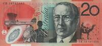 3 CONSECUTIVE AUSTRALIA $20 BANKNOTE STEVENS PARKINSON POLYMER UNC MINT PERFECT