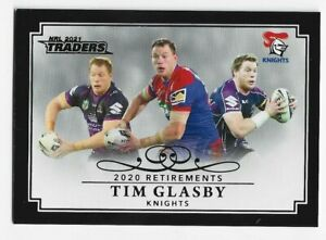 2021 NRL Traders 2020 Retirements parallel RP06/15 Tim Glasby Storm/Knights #45