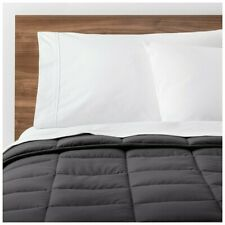 Made By Design Solid Down Alternative Comforter, Dark Grey King- New!