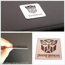 Silver Square Transformer Autobot Optimus Prime Badge Automobile Fender Sticker