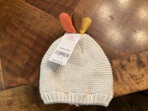 Carters Infant Ivory Turkey Hat. NWT Sz 3-9 Months