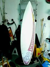 Innerlight Surfbetty Surfboard 6ft Pink Hibicus Pre Own W/New 10' Coil Sup Leash
