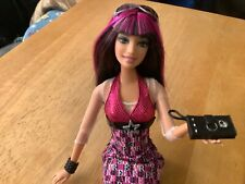 Barbie Fashion Fever Fashionistas Pink Rock Star Raquelle Doll Jointed Rare