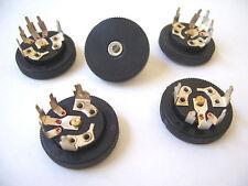 5 pcs 10K AUDIO TAPER 15mm POTENTIOMETER w/ BLACK PLASTIC KNOB / HOBBYIST / HAM