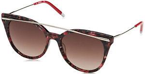 Calvin Klein CK4362S-617 Red Marble Women's Sunglasses Brown Lens